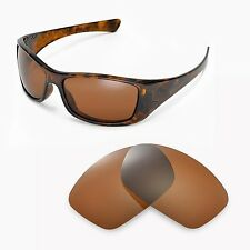 New Walleva Polarized Brown Replacement Lenses For Oakley Hijinx Sunglasses