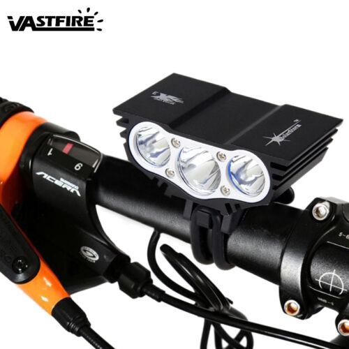 X2 X3 5000lm Bicicleta Luz delantera Batería recargable lámpara cabeza conjunto