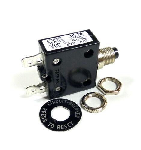 Fuse Philmore 50 Amp Push Button Circuit Breaker 32V DC or 250V AC