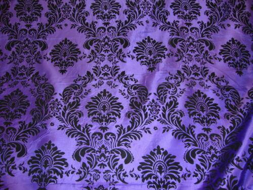 """50ft Purple Flocking Damask Aisle Runner Taffeta Fabric 58/"""" Flocked Velvet"""
