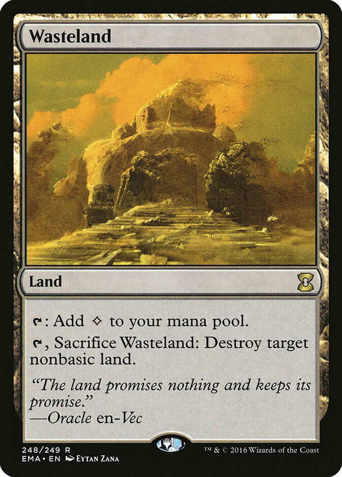 Wasteland Eternal Masters Rare en NM MTG
