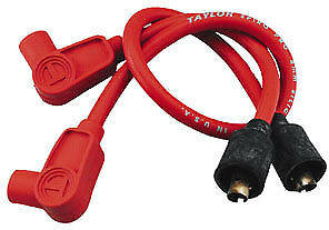 Compatible With 1984-99 Harley Softail Dyna Glides 77231 Red 8mm Spark Plug Wires Sumax