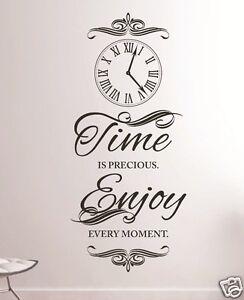 zeit sprüche englisch Wandtattoo Wohnzimmer Flur Zeit ist englisch time is precious  zeit sprüche englisch