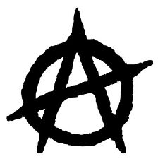 ANARCHY SYMBOL Vinyl Decal Sticker Car Window Wall Bumper Anarchist Chaos A Logo