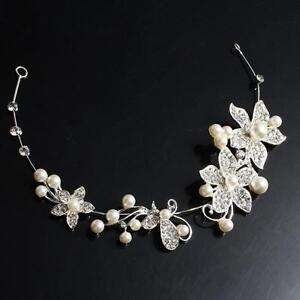 Perlen-Haarband Haarschmuck Perlen Kunstperlen Strass Stirnband Kopfschmuck