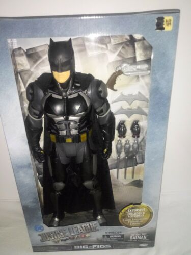 9 Pieces Jakks Justice League Big-Figs Tactical Suit Batman-19/""