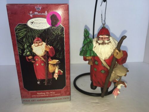 "Hallmark Keepsake Ornament Collector/'s Club /""Making His Way/"" 1998"