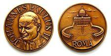 Medaglia Joannes Paulus II Pont. Max.- Roma (Inc. Bandoli) Bronzo, Diametro cm 6