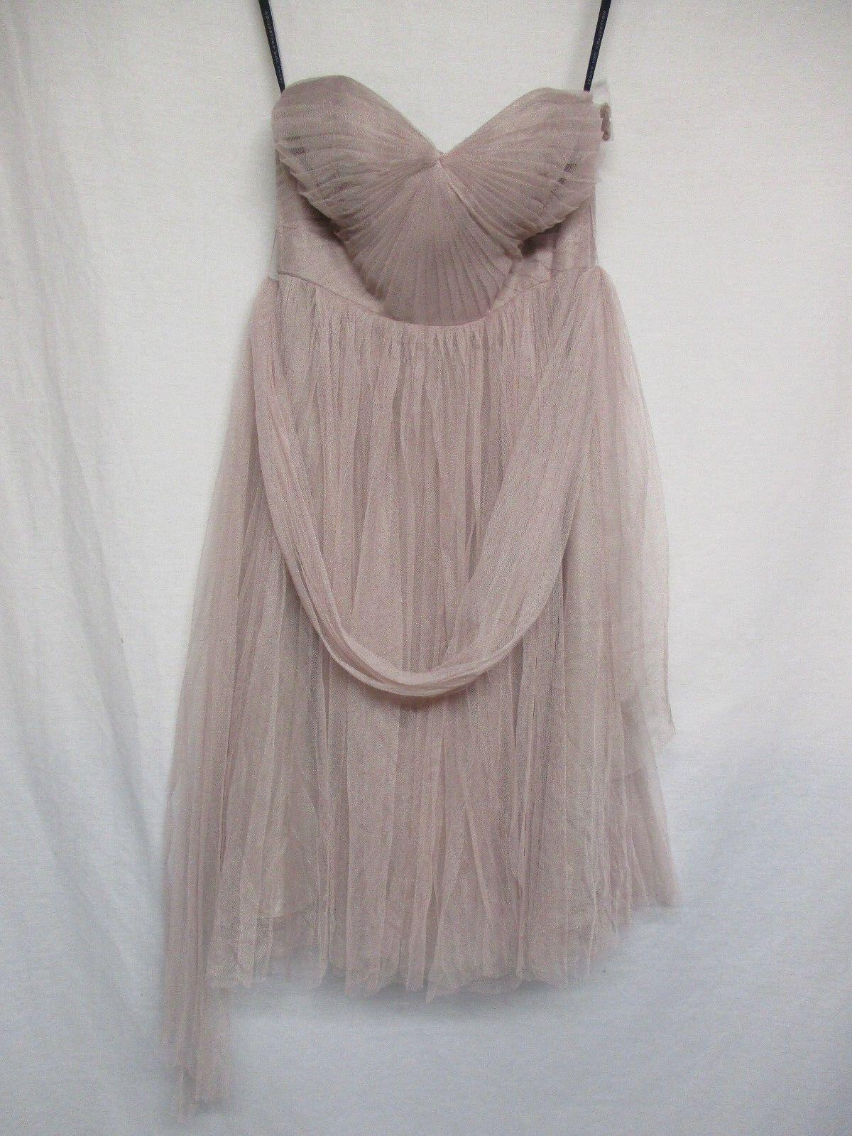 JENNY YOO COLLECTION Rosa Strapless Dress Lace Prom Größe 6      p10