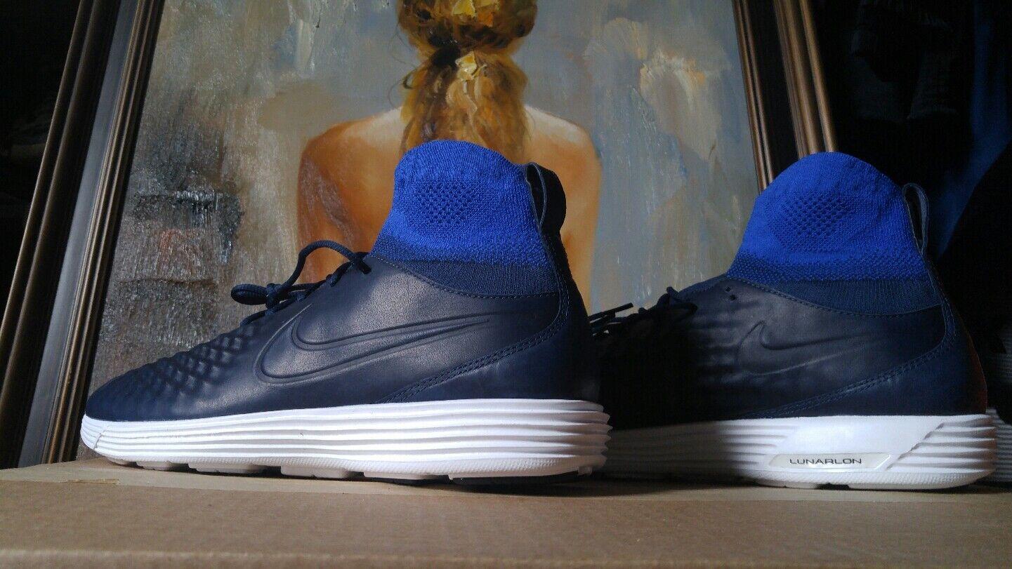 Nike lunar magista ii dimensione blu bianco flyknit fk 852614 400