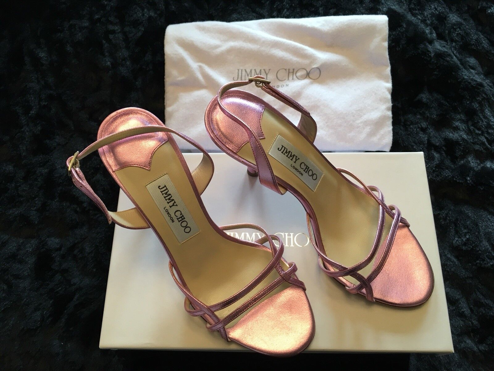 Jimmy Choo Pink Sandals Size 4