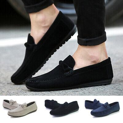 Respirant Hommes Conduite Décontracté Chaussures Bateau Cuir Chaussures Mocassins à Enfiler Mocassins