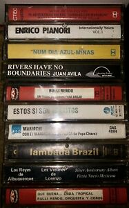 LOT-OF-10-VINTAGE-BRAZILIAN-CASSETTE-TAPES-BRAZIL-LOOK