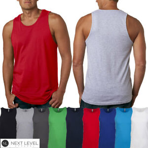 304b7c91e217f Men s Next Level Apparel Premium Jersey Tank Solid Cotton Top 3633 ...