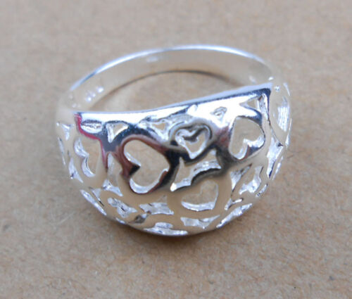 Wholesale 925 Sterling Argent plaqué Femmes Fashion Jewelry Rings Taille US8 #26