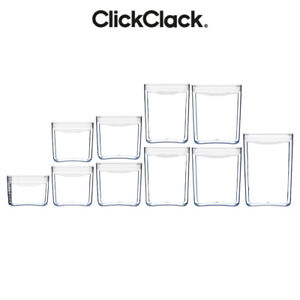 NEW CLICKCLACK 10pc AIR TIGHT PANTRY STARTER CONTAINER SET 10 PIECE