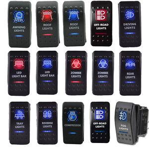 12V-20A-Bar-ARB-Carling-Rocker-Toggle-Switch-Red-Blue-LED-Light-Car-Boat-Sales
