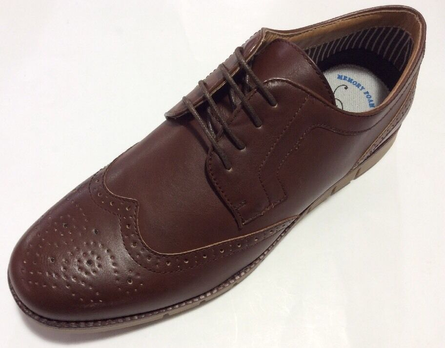 Men's shoes Smooth Cognac Denver Amali Contemporary wingtip,Oxford Sneaker,New