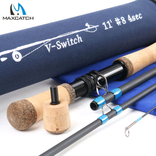 Maxcatch Switch Rod 4//5//6//7//8//9WT Fly Fishing Rod With Switchable Fighting Butt