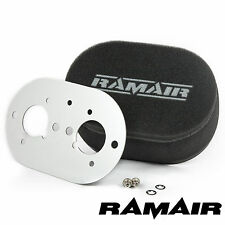 RAMAIR Carb Air Filters With Baseplate Weber 40 IDF 65mm Bolt On