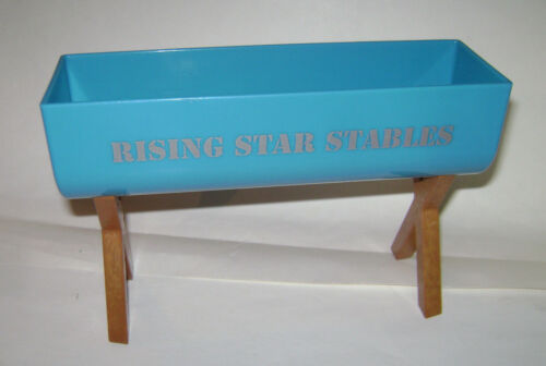 American Girl Doll Horse Rising Star Stables Water Food Trough Replacement Blue