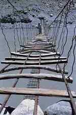 791046 A Suspension Bridge Over River Hunza Northern Pakistan A4 Photo Print