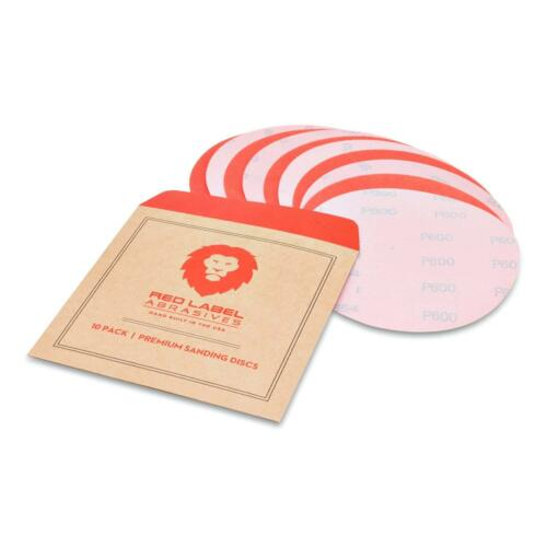 10 Dry Film Sanding Discs 6 Inch 600 Grit High Performance Hook And Loop Wet