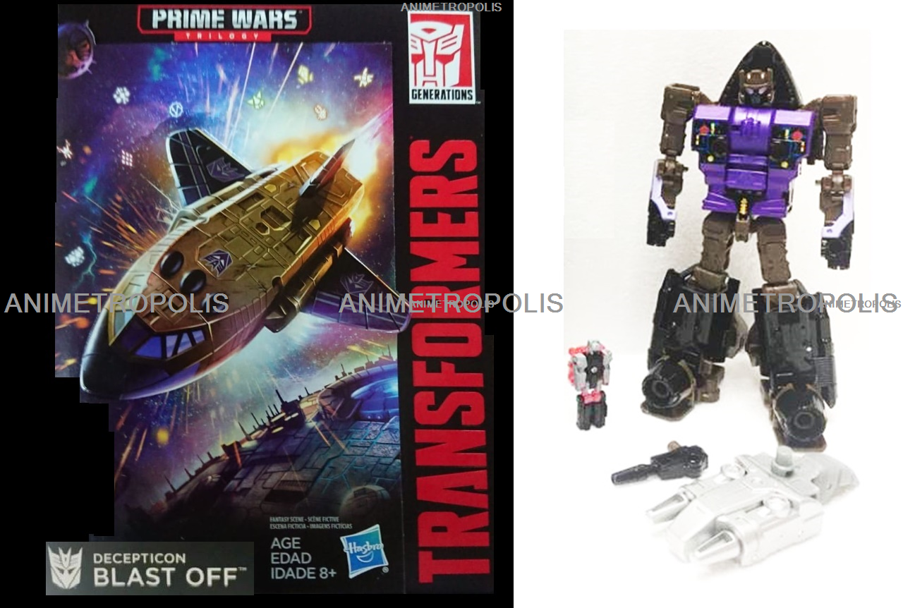 Transformers Generations Prime Wars Trilogy Decepticon Blast Off & Megatronus UK