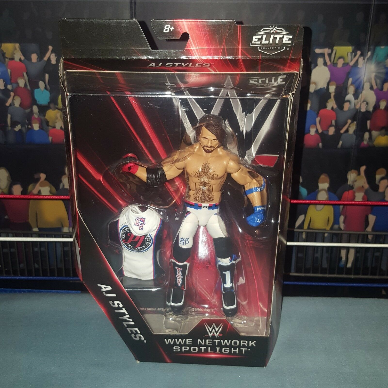 AJ Styles - Elite Network Series Series Series - New Boxed WWE Mattel Wrestling Figure 1bcfa4