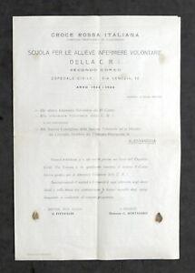 Croce-Rossa-Italiana-Programma-Corso-Infermiere-Volontarie-Alessandria-1943
