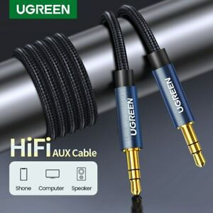 UGREEN-Aux-Cable-jack-3-5mm-Audio-Cable-Gold-Plated-For-Car-iPhone-Tab-MP3-MP4