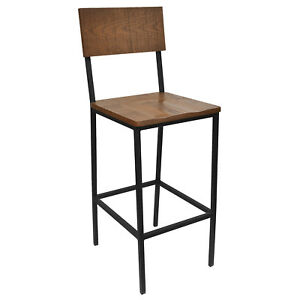 Amazing Details About New Henry Steel Bar Stool With Distressed Wood Seat And Back Ibusinesslaw Wood Chair Design Ideas Ibusinesslaworg