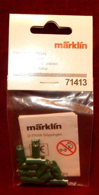 Märklin, Bustina da 10 Prese Nuovo Modello, Colore Jvert , Nuovo, 71413