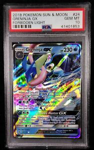 PSA-10-Greninja-GX-24-Holo-Forbidden-Light-Gem-Mint-Pokemon-Card-2018