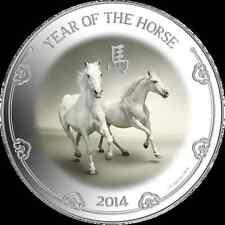 2014 Niue Island  1oz  Silver Year of the Horse Lunar series coin