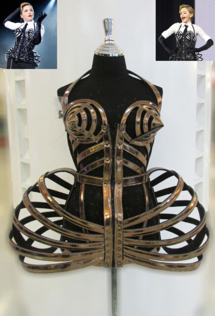 DaNeeNa T029 Cone Bra Pointy Corset Cage Leather Madonna Costume XS-XL
