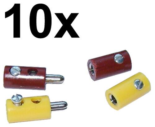 20 Muffen gelb//braun für Modellbahn NEU 20 H0-Stecker