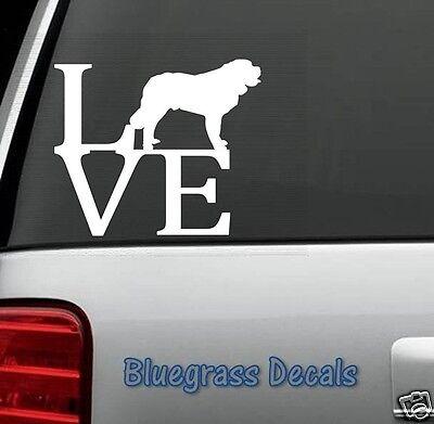 B1021 Saint Bernard LOVE DOG Decal Sticker for Car Truck SUV Van LAPTOP Puppy