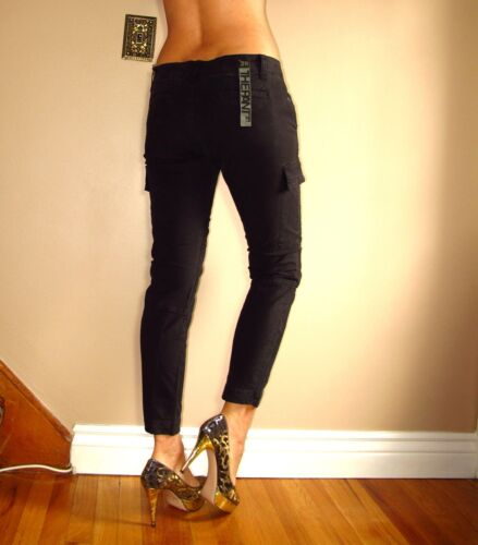 Amincissant 29 Pantalon Skinny Noir Cheville Cargo Joe's élevé Boyfriend Mi zXvwzqC4