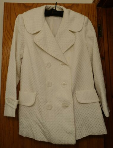 ANNA SUI VINTAGE 1990S WHITE QUILTED WIDE COLLAR … - image 1