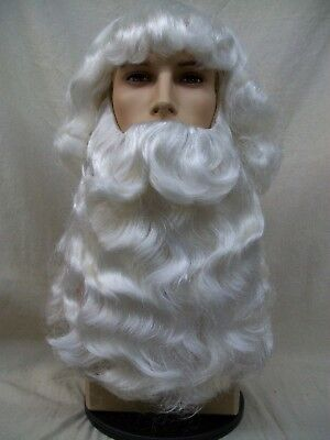 Mens Santa Claus Beard /& Wig Victorian Father Christmas St Nick Parade Biblical