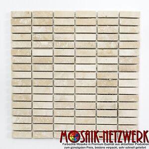 Mosaico-piastrella-bastoncini-TRAVERTINO-CHIARO-LEVIGATO-amp-spatolata-Muro-43-41548-b