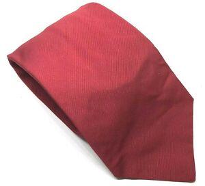 """Emmett LONDON Herren Krawatte rot Formalen Casual Seide Baumwollmischung 3.5"""" breit 58"""" lang"""