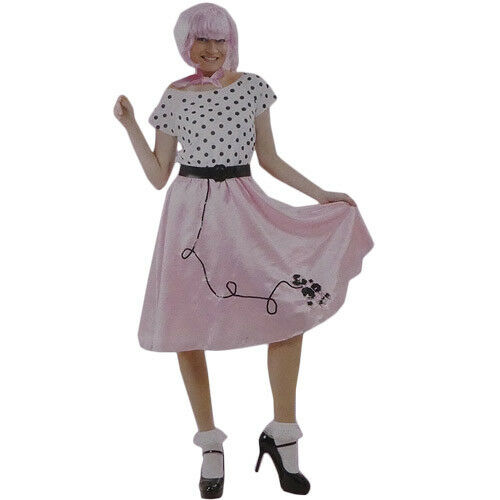 Size L 50s BOPPER COSTUME GREASE ROCK N ROLL DANCE LADIES PARTY FANCY DRESS UP