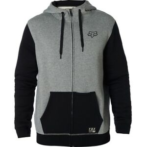 Details about Men sweatshirt zip and hooded fox win mob fleece heather grey show original title