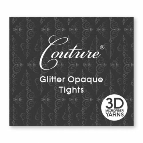 Ladies Glitter Comfort Opaque Tights 3D Microfiber Yarns Black Couture Women