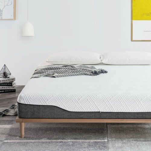 Twin Full Queen King 10 inch Bamboo Charcoal /& Aloe Vera Hybrid Mattress Medium
