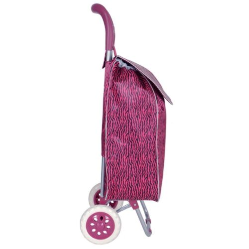 Pliant roues funky shopping trolley festival nouveau sac solide étanche lumière