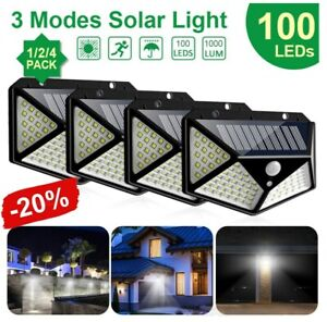 100LED-Solar-Power-Light-PIR-Motion-Sensor-Security-Outdoor-Garden-Wall-Lamp-HOT