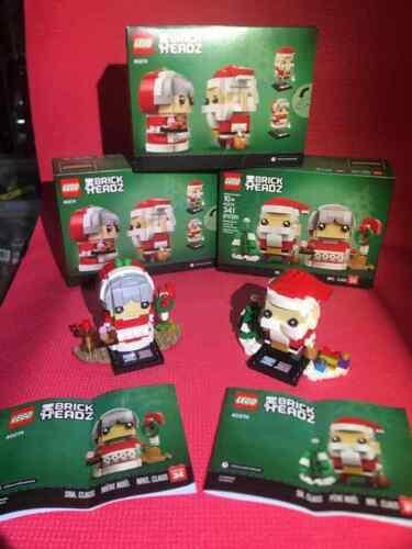 LEGO 40274 Mr /& Mrs Claus BrickHeadz Christmas Brand New Sealed 341 pcs